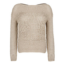 Buy Violeta by Mango Textured Knit Jumper, Light Beige Online at johnlewis.com