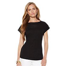 Buy Lauren Ralph Lauren Cherissie Boatneck Top, Black Online at johnlewis.com