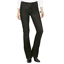 Buy Lauren Ralph Lauren Straight Trousers, Black Online at johnlewis.com