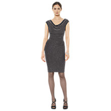 Buy Lauren Ralph Lauren Valli Cap Sleeve Dress, Black/Silver Online at johnlewis.com