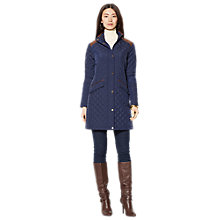 Buy Lauren Ralph Lauren 3/4 Quilted Jacket, Regal Navy Online at johnlewis.com