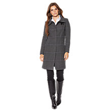 Buy Lauren Ralph Lauren Prince Of Wales Balmacaan Jacket, Grey/Black Online at johnlewis.com