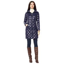 Buy Lauren Ralph Lauren Side Buckle Long Jacket, Regal Navy Online at johnlewis.com