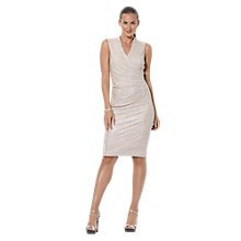 Buy Lauren Ralph Lauren Bentley Dress, White/Gold Online at johnlewis.com
