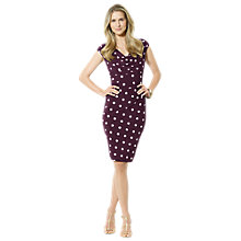 Buy Lauren Ralph Lauren Cap Sleeve Dress, Raisin Online at johnlewis.com
