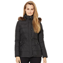 Buy Lauren Ralph Lauren Hooded Down Anorak, Black Online at johnlewis.com
