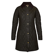 Buy Barbour Equestrian Belsay Waxed Jacket, Olive Online at johnlewis.com