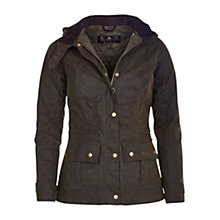 Buy Barbour Convoy Waxed Jacket, Olive Online at johnlewis.com