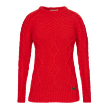 Buy Barbour Ursula Jumper, Red Online at johnlewis.com
