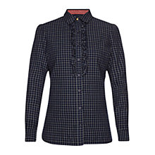 Buy Barbour Tack Check Shirt, Navy Online at johnlewis.com