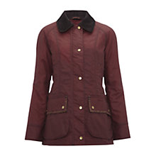 Buy Barbour Waddeson Beadnell Waxed Jacket, Rosewood Online at johnlewis.com