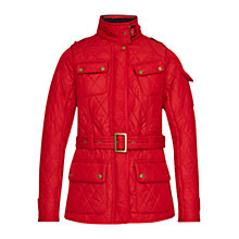 Buy Barbour International Tourer Quilted Jacket, Chilli Red and Black Online at johnlewis.com