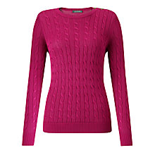 Buy Lauren Ralph Lauren Boat Neck Jumper, Rhubarb Pink Online at johnlewis.com