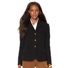 Buy Lauren Ralph Lauren Wool-Blend Hacking Jacket, Black Online at johnlewis.com