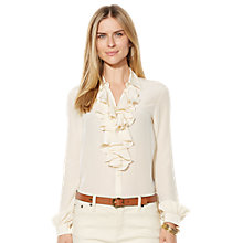 Buy Lauren Ralph Lauren Risa Blouse, Belle Cream Online at johnlewis.com