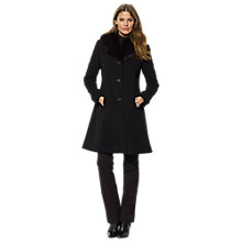 Buy Lauren Ralph Lauren Doe Skin Fit & Flare Jacket, Black Online at johnlewis.com