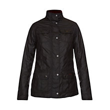 Buy Barbour Scholar Waxed Jacket, Black/Golden Lily Online at johnlewis.com