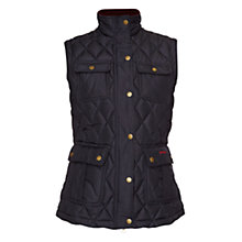 Buy Barbour Craft Gilet, Navy/Golden Lily Online at johnlewis.com