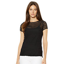 Buy Lauren Ralph Lauren Jelissa Crewneck Knit, Black Online at johnlewis.com