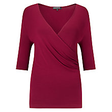 Buy Lauren Ralph Lauren Blessen Top, Bright Merlot Online at johnlewis.com