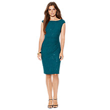 Buy Lauren Ralph Lauren Novella Dress, Green/Teal Online at johnlewis.com