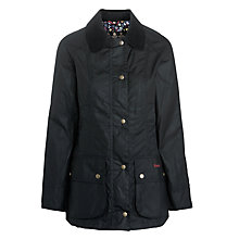 Buy Barbour Chamber Beadnell Jacket, Navy/Avon Print Online at johnlewis.com