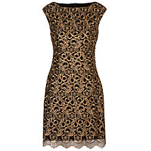 Buy Lauren Ralph Lauren Montague Dress, Black/Copper Online at johnlewis.com