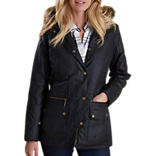 Buy Barbour Kelsall Waxed Jacket, Black/Modern Online at johnlewis.com