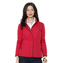 Buy Lauren Ralph Lauren Quilted Faux Suede Trim Jacket Online at johnlewis.com