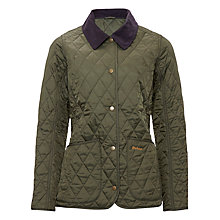 Buy Barbour Annandale Quilted Jacket, Olive Online at johnlewis.com