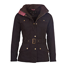 Buy Barbour Equine Waxed Coat, Olive Online at johnlewis.com