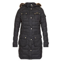 Buy Barbour Oakwheel Parka, Charcoal/Modern Online at johnlewis.com