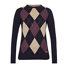 Buy Barbour Badminton Jumper, Navy Online at johnlewis.com