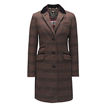 Buy Barbour Stornaway Tweed Coat, Wine Tweed Online at johnlewis.com