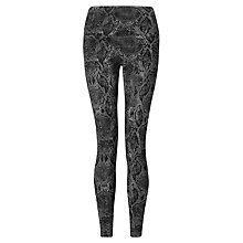 Buy Lysse Leggings Triple Zip Snake Leggings, Grey Online at johnlewis.com