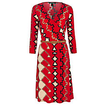 Buy Lauren Ralph Lauren Charmee Wrap Dress, Multi Online at johnlewis.com