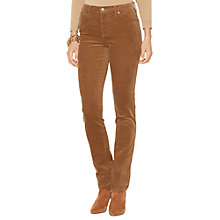 Buy Lauren Ralph Lauren Slim Straight Jeans, Caramel Online at johnlewis.com
