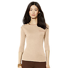 Buy Lauren Ralph Lauren Regia Top, Palomino Online at johnlewis.com