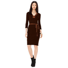 Buy Lauren Ralph Lauren Fonfara Dress, Dark Hemp Online at johnlewis.com