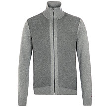 Buy Tommy Hilfiger Bob Zip-Through Jumper, Silver Fog Heather Online at johnlewis.com