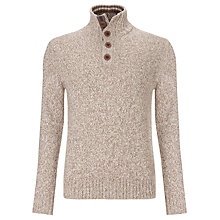 Buy Tommy Hilfiger Sven Button Neck Jumper, Walnut Online at johnlewis.com