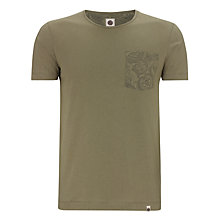 Buy Pretty Green  Micro Dot Paisley T-Shirt, Winter Green Online at johnlewis.com