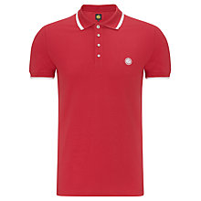 Buy Pretty Green Multi Stripe Cotton Polo Shirt, Red Online at johnlewis.com