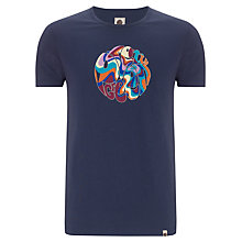 Buy Pretty Green Twisty Logo T-Shirt, Navy Online at johnlewis.com