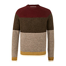 Buy Tommy Hilfiger Camden Crew Neck Jumper, Tawny Port Online at johnlewis.com