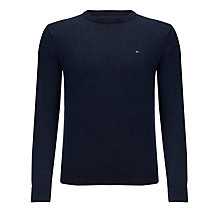 Buy Tommy Hilfiger Lambswool Crew Neck Jumper, Navy Blazer Online at johnlewis.com