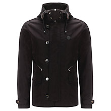 Buy Pretty Green Cambert Cotton Hooded Jacket, Black Online at johnlewis.com