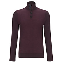 Buy Tommy Hilfiger Bob Button Neck Jumper, Purple Wine Heather Online at johnlewis.com