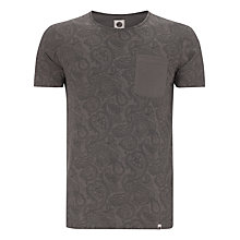 Buy Pretty Green All Over Paisley Cotton T-Shirt, Winter Grey Online at johnlewis.com