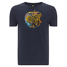 Buy Pretty Green Paisley Apple Cotton T-Shirt, Navy Online at johnlewis.com